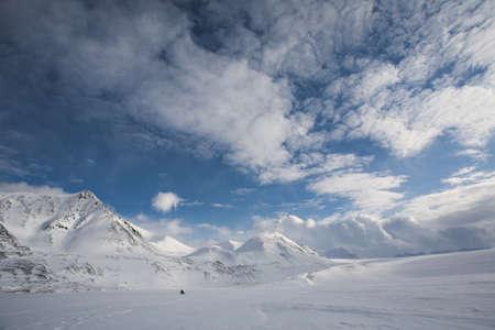 Winter Arctic landscape, Spitsbergen, Svalbard