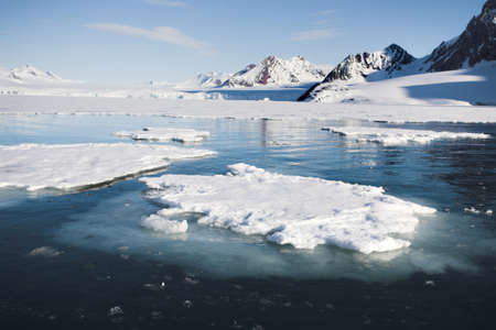 Melting ice on the sea surface - Arctic climate