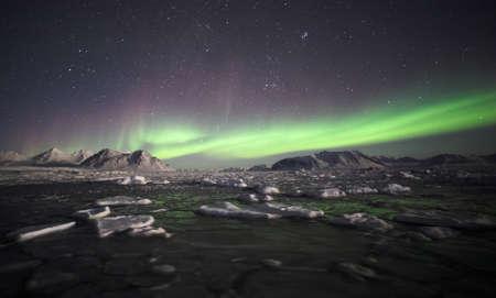 Natural phenomenon of Northern Lights (Aurora Borealis)