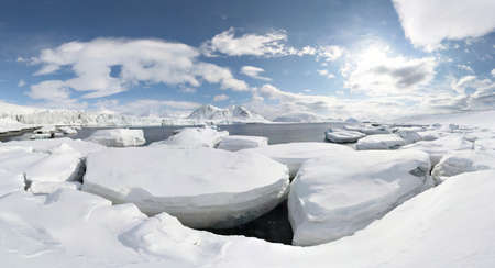 Winter in the Arctic - panorama