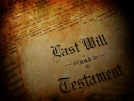 Vintage Envelope with Last Will and Testament