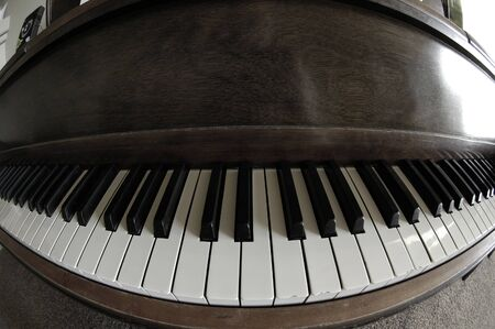 Old vintage piano in home for music