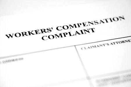Photo pour Worker's Compensation Complaint Form Injury Payment - image libre de droit