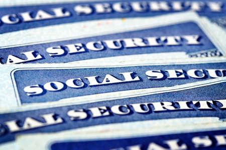 Photo pour Social Security Cards for Elder Care - image libre de droit