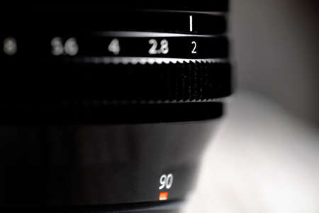 Photo for Lens with aperture ring for photography optics focal length - Royalty Free Image