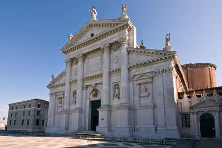 Facade of San Giorgio di Maggiore church  16th century  - Venice, Venezia, Italy, Europe