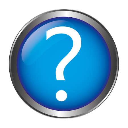 Ilustración de Question Mark Button - Imagen libre de derechos