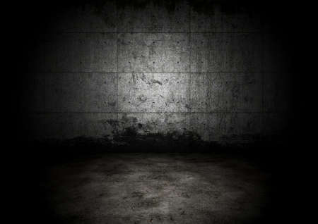 An empty dark dungeon wall. Historical prison wall concept