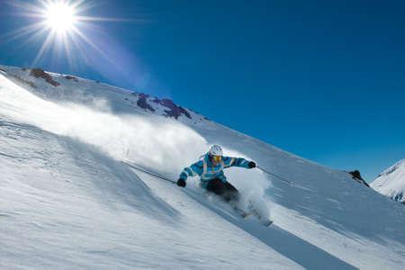 Off-piste skiing in Chapelco, San Martin de los Andes, Argentina