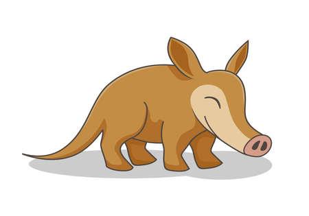 Illustration pour Aardvark Cartoon Vector Image Isolated - image libre de droit