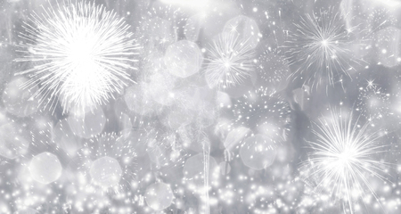 Foto de Fireworks at New Year - holiday background - Imagen libre de derechos