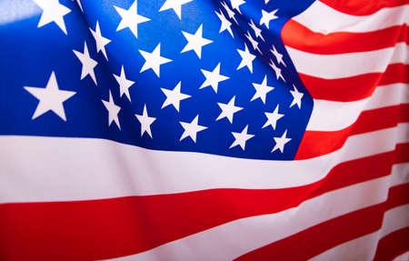 Photo pour Flag of United States of America waving . - image libre de droit