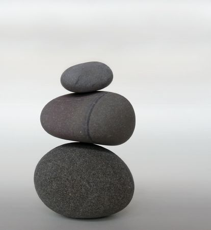 Rocks stacked one on top of another.