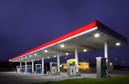 Gasstation at night