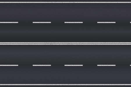 Asphalt road texture with white stripes. Vector illustration