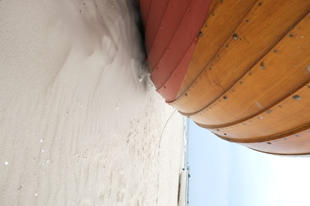 Boat hull on the beach