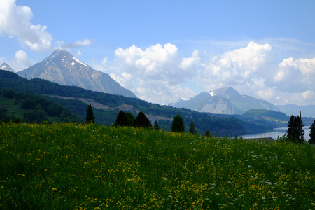 Mountain landscape in the Bernese Land (CH)
