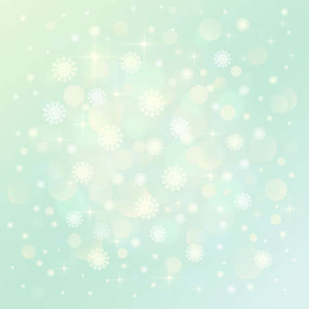 Light abstract Christmas background with snowflakes
