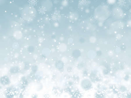 Photo for Abstract Christmas background with snowflakes - Royalty Free Image