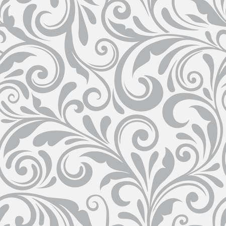Illustration for Floral seamless vector pattern. A swirl background and wallpaper with curled items. An ornament seamless floral pattern. - Royalty Free Image