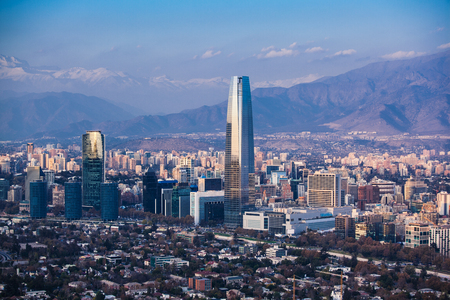Photo for Financial district in Santiago, Chile. Costanera Center - Royalty Free Image