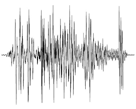 audio wave diagram - a chart of a seismograph - symbol for measurement - earthquake wave graph