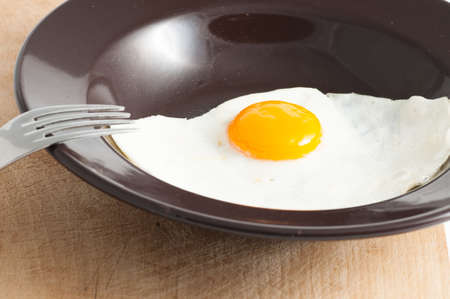 view of a fried egg