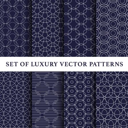 Ilustración de Asian luxury vector patterns pack - Imagen libre de derechos