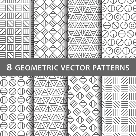 Illustration for Geometric vector pattern pack - Royalty Free Image