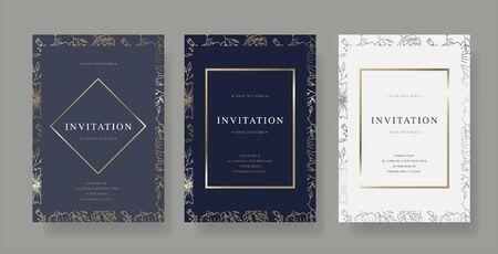 Illustration pour Vintage luxury vector invitation card - image libre de droit