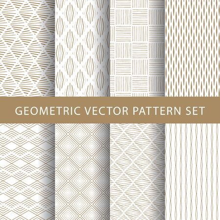 Illustration for Luxury vector vintage pattern pack - Royalty Free Image