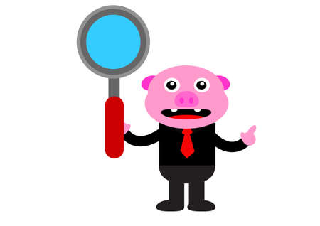 illustration graphic of piggy in business activity