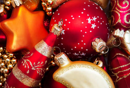 Brightly colored Assorted color Christmas baubles