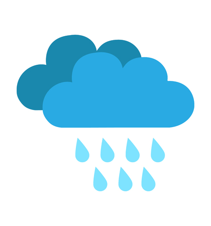 Illustration for Rain cloud icon isolated on white background vector illustration for web site design, app, weather - Royalty Free Image