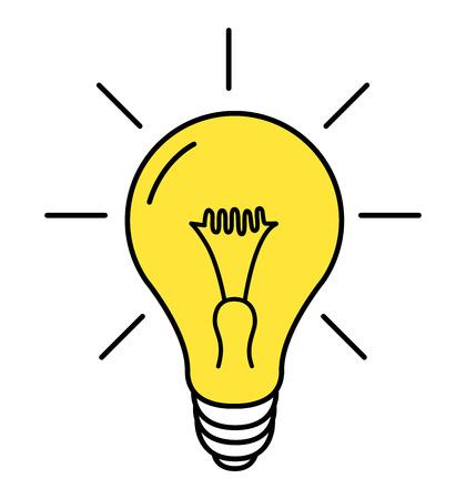 Illustration pour Lamp line icon vector on white background vector illustration eps 10 - image libre de droit