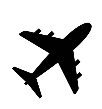 Illustration pour Vector airplane icon isolated on white flat - image libre de droit