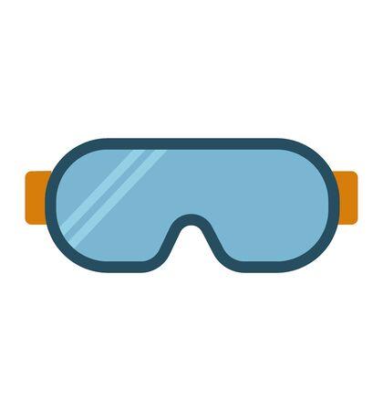Safety glasses icon vector simple line illustration safety glasses design