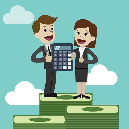 Illustration for Profit, finances concept. Vector, flat illustration - Royalty Free Image