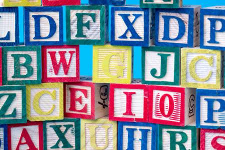 Photo pour Wooden alphabet on the white background. Concept photo. - image libre de droit