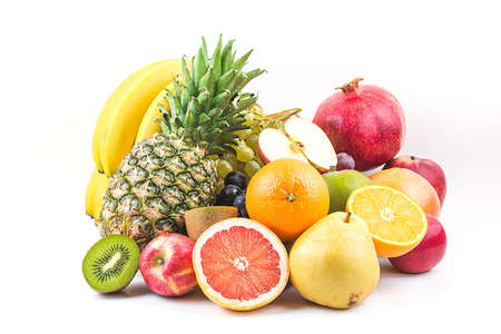 Photo for Fresh mixed fruits.Fruits background.Healthy eating, dieting.Love fruits, clean eating. - Royalty Free Image