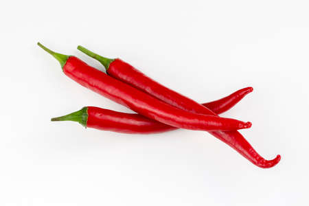 Foto für Fresh red pepper isolated on the white background - Lizenzfreies Bild