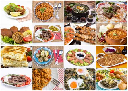 Photo pour Traditional Delicious Turkish foods collage - image libre de droit