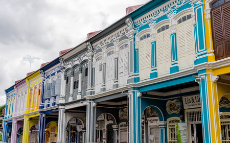 Colourful Colonial Houses of Georgetown in Penang, Malaysia