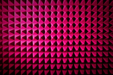 Photo pour Recording studio sound dampening acoustic foam, background. Noise isolating protective and shock, texture. Background of sound absorbing sponge, wall soundproofing - image libre de droit