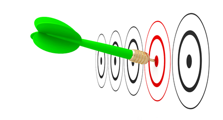 Photo pour dart arrow target goal reach 3D - image libre de droit