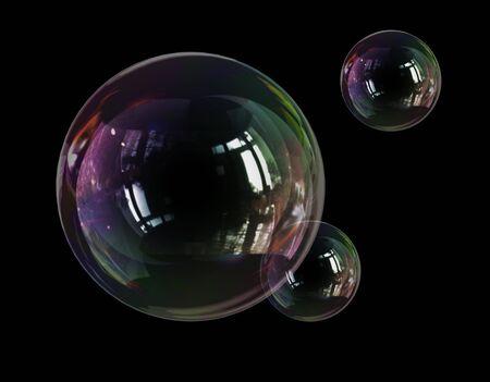Photo pour soap bubble lightness fragility - image libre de droit