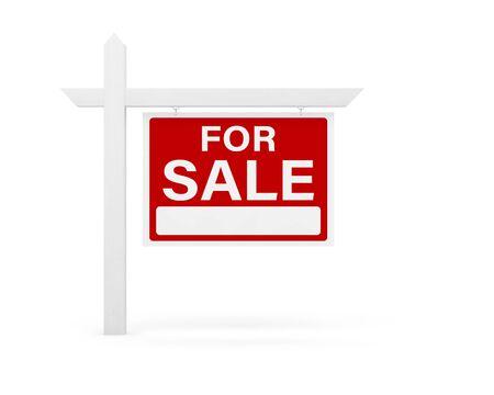 Photo pour for sale house home real estate sign 3D - image libre de droit