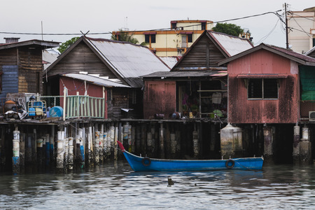 Chinese Clan Jetty community houses on stilts Georgetown, Penang