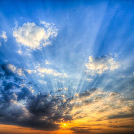 Sunbeams at Sunrise