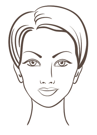 Illustration for beautiful woman face for makeup design - Royalty Free Image